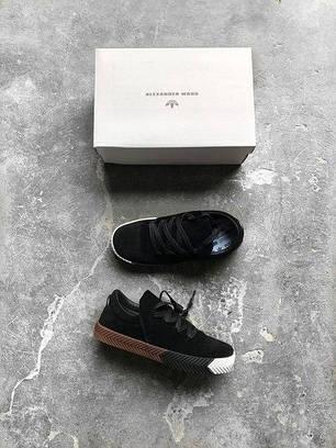 Мужские кроссовки Adidas Alexander Wang черные топ реплика, фото 2
