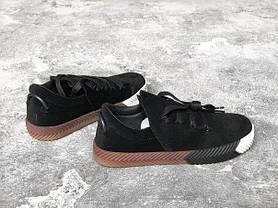 Мужские кроссовки Adidas Alexander Wang черные топ реплика, фото 3