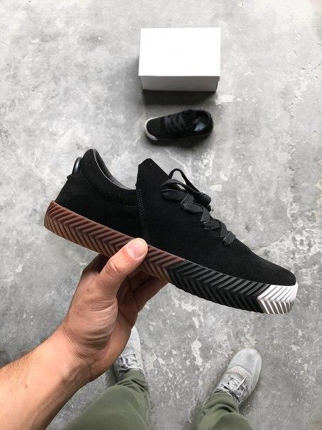 Мужские кроссовки Adidas Alexander Wang черные топ реплика