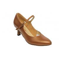 Туфли для танцев  женские Стандарт натуральная кожа  цвет бежевый