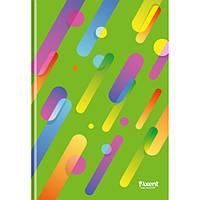 """Книга записная Axent серия """"Colour Rain"""", А4, картонная обложка, 96 листов, клетка, зелёная"""