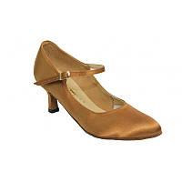 Туфли танцевальные женские стандарт из кожи , сатина 24р, 24,5р