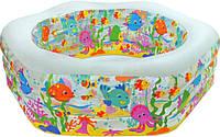 Детский надувной бассейн Intex 56493 Океанский риф 191*178*61 см.