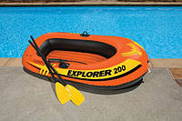 Надувная двухместная лодка Explorer 200 Intex 58331 до 95 кг.