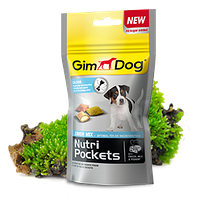 GimDog Nutri Pockets JUNIOR MIX 45 г - хрустящие подушечки для щенков с кальцием