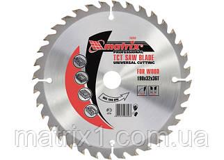 Пильний диск по дереву, 160 х 32 мм, 24 зубів, + кільце, 30/32// MTX Professional