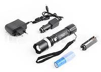 Ультрафиолетовый фонарь 12V 8626-UV 365 nm, ultra strong, акк. 18650 LO