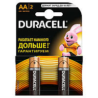 Батарейка Duracell AA bat Alkaline 2шт Basic 81551267