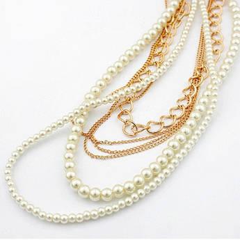 Женское ожерелье Жемчуг и цепи