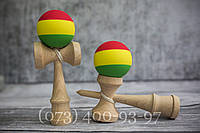 Kendama 3 Colors. Кендама с прорезиненный шаром (Тама)