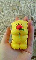 """Мыло-сувенир для рук 3Д """"Мишка с розой"""", бол."""