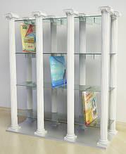 Стеллаж напольный СН 87 для виниловых пластинок из гипса и стекла