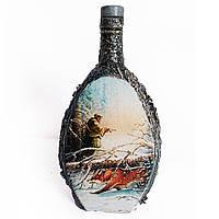 """Бутылка """"Зимняя охота на лису"""" Подарок мужчине охотнику на новый год  день рождения юбилей"""