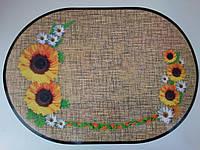 Салфетки, сеты для сервировки стола, на тумбочку, полочку  Подсолнух,  28см*40см