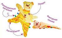 Детская игрушка-обнимашка пищалка Медвежонок Тихоня MK4101-01