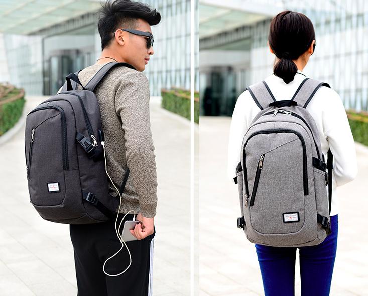 Рюкзак мужской и женский Dxyizu кабель USB для подключения гаджетов