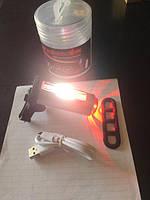 Фонарь велосипедный аккумуляторный WDS-029, фото 1