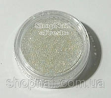 Стеклянный песок, прозрачный, белый