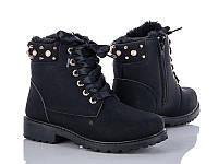 Высокие модные ботинки женские на тонком меху (полномерные)р36-41