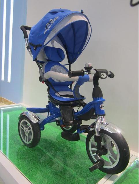 Трехколесный велосипед с поворотным сиденье Super Trike TR17005 синий