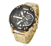 Золотые мужские часы Diesel Brave