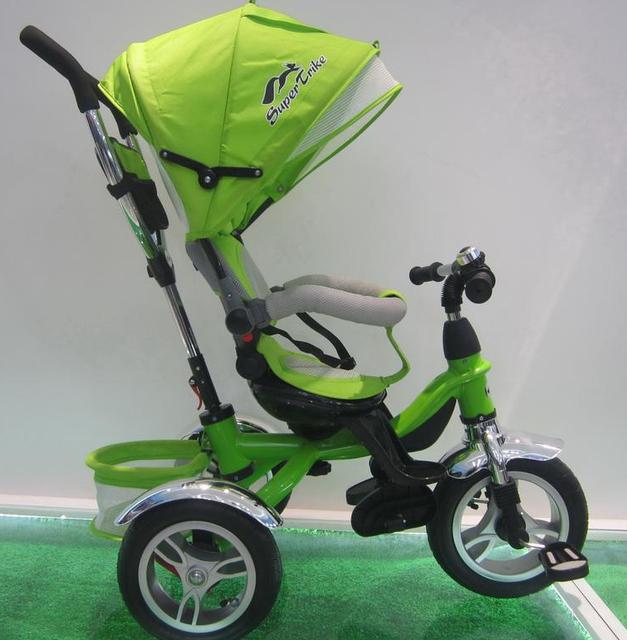Трехколесный велосипед с поворотным сиденье Super Trike TR17008 салатовый