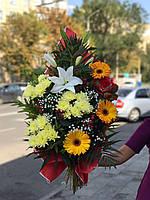 """Букет яркий цветочный """" Оранжевое настроение"""", фото 1"""