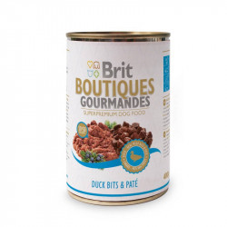 Консерва Brit (Брит) Boutiques Gourmandes утки в паштете для собак, 400гр