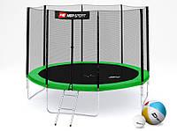 Батут (4 ноги ) Hop-Sport 10ft (305cm) green с внешней сеткой  для дома и спортзала, Львов