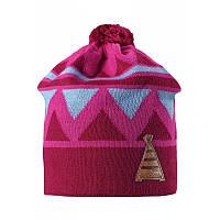 Демисезонная  шапка для девочки Reima Latsa 528568-4620. Размеры 50 - 56.