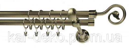 Карниз металлический двухрядный Лука