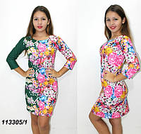 Демисезонное платье в цветок  42,44,46,48