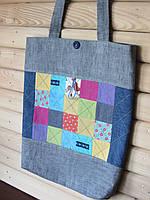 Сумка. Текстильная сумка-шоппер  для покупок