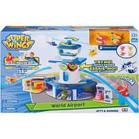 Игровой набор Супер крылья самолеты-трансформеры Аэропорт  Super Wings World Airport Playset