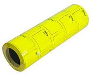 Ценник прямоугольный цветной (F) 36x29 желтый, ручная наклейка (166 штук/ 6м) (TsH.P.F.zh)