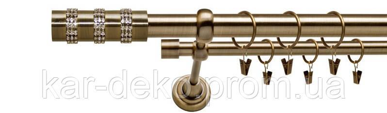 Карниз двухрядный металлический для штор