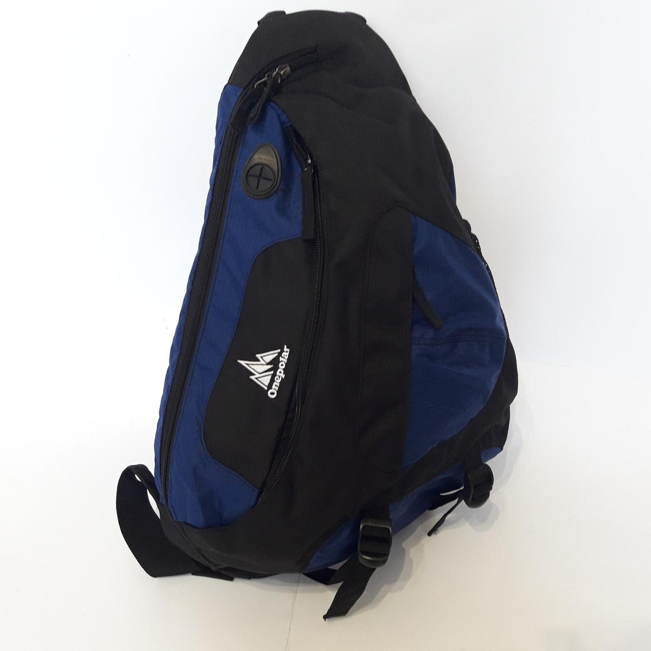 Стильный рюкзак сумка 20 л One Polar 1249 на одно плечо спортивный черно синий