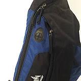 Стильный рюкзак сумка 20 л One Polar 1249 на одно плечо спортивный черно синий, фото 3