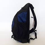 Стильный рюкзак сумка 20 л One Polar 1249 на одно плечо спортивный черно синий, фото 5