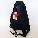 Стильный рюкзак сумка 20 л One Polar 1249 на одно плечо спортивный черно синий, фото 6