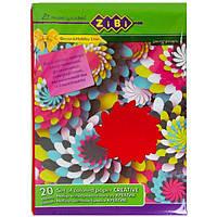 Набор цветной бумаги А4 ZiBi Креатив 20 листов (ZB.1925)