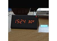 Настольные часы с красной подсветкой (VST-861-1)