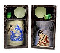 Подарочный набор: свеча, аромалампа, эфирное масло