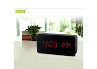 Настольные часы с красной подсветкой (VST-862-1)