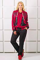 Женский спортивный костюм большого размера с ажурной накаткой