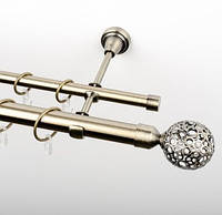 Карниз металлический кованный двухрядный 240 см, 25 мм, Орнела