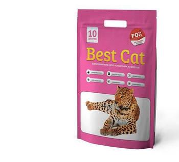 Силикагелевый наполнитель  Best Cat (БЭСТ КЭТ) Pink Flowers для кошачьего туалета с запахом цветов, 10л