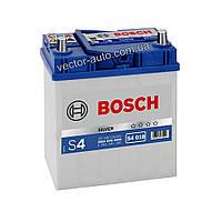 Аккумулятор BOSCH S4 018, 40Ah-12v, R+, EN330 (Asia) тонк. клеммы