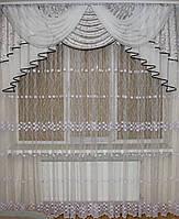 Ламбрекен из шторной ткани №312