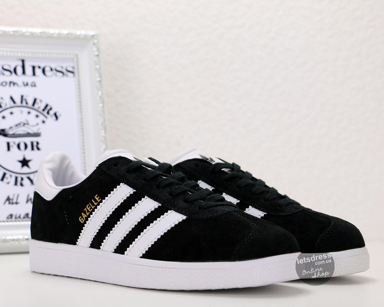 Кроссовки-кеды женские Adidas Gazelle Black оригинал | Адидас Газель женские черные